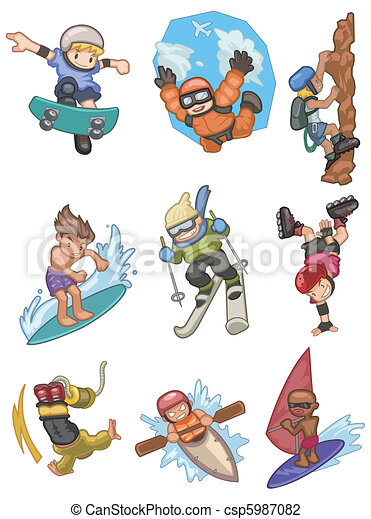 cartoon Extreme sport icon  - csp5987082