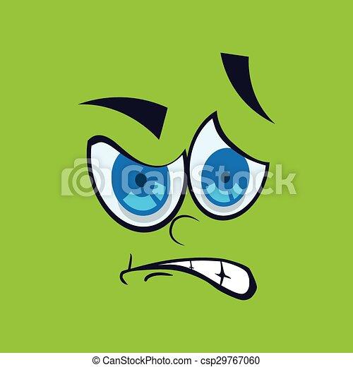 Cartoon face design  - csp29767060