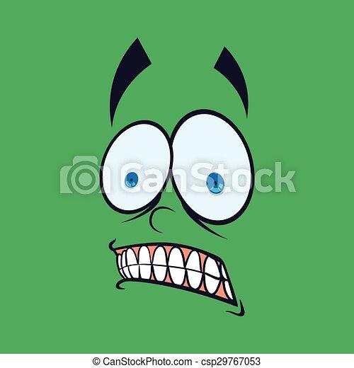 Cartoon face design  - csp29767053