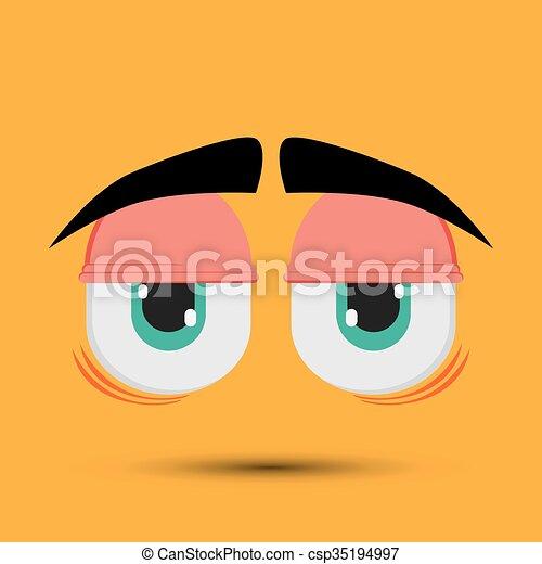 Cartoon face design  - csp35194997