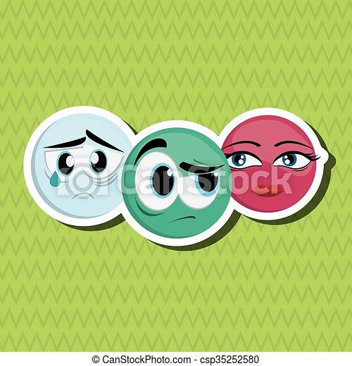 Cartoon face design  - csp35252580