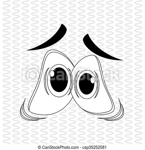 Cartoon face design  - csp35252581