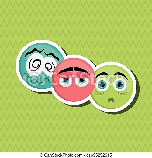 Cartoon face design  - csp35252615