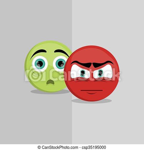 Cartoon face design  - csp35195000