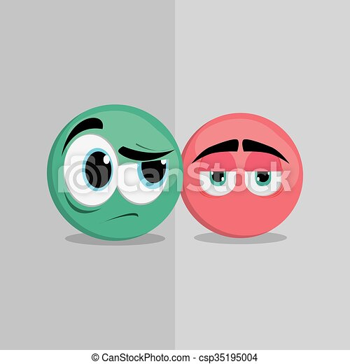 Cartoon face design  - csp35195004