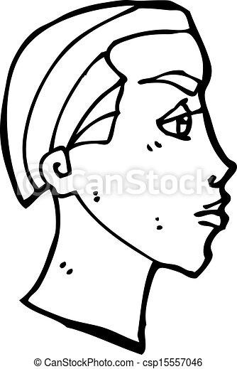 cartoon face profile