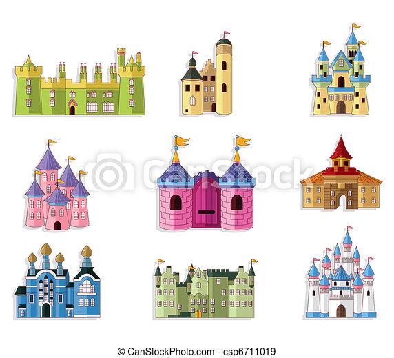 cartoon Fairy tale castle icon  - csp6711019