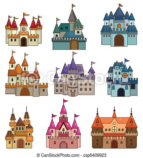 cartoon Fairy tale castle icon - csp6409923