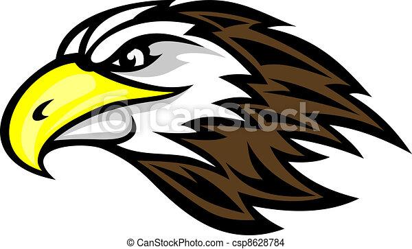 cartoon falcon head for mascot or tattoo design eps vector search rh canstockphoto com falcon clipart eps falcons clip art