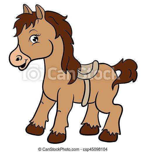 cartoon farm animals cute horse smiles eps 10 vector vector rh canstockphoto com horse vector illustrator horse vector art pack