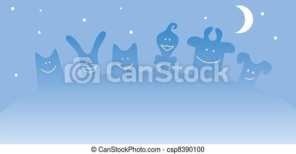Cartoon farm animals - csp8390100