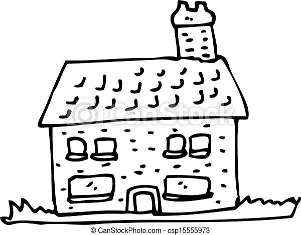 cartoon farmhouse - csp15555973