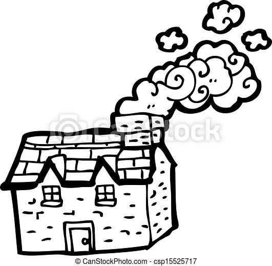 cartoon farmhouse - csp15525717