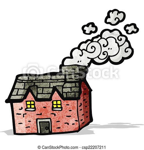cartoon farmhouse - csp22207211