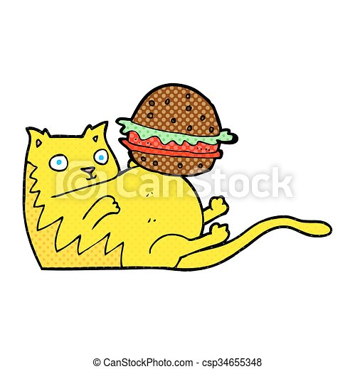 freehand drawn cartoon fat cat with burger eps vector search clip rh canstockphoto com fat cat clipart free fat cat clip art free