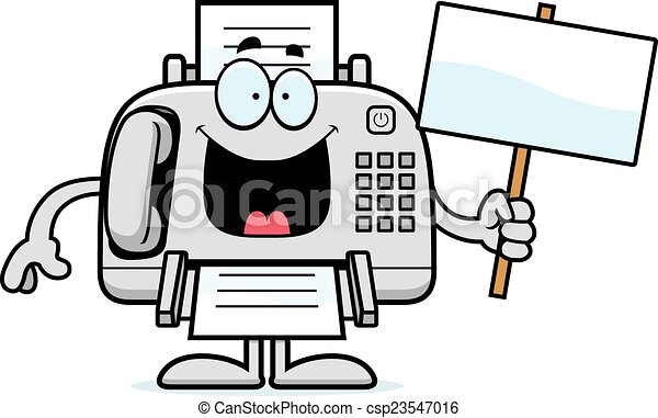 cartoon fax machine sign a cartoon illustration of a fax vector rh canstockphoto com fox clipart fox clipart black and white