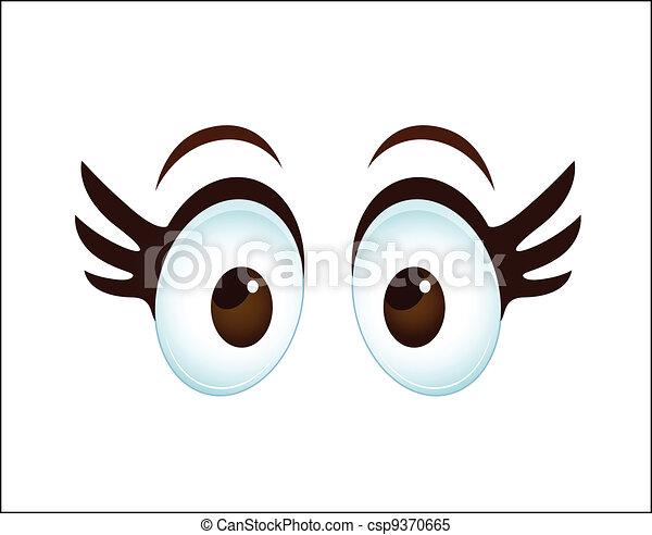 Cartoon Female Eye - csp9370665