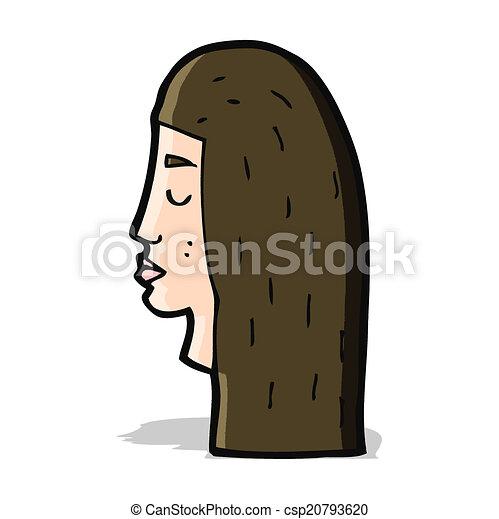 cartoon female face profile