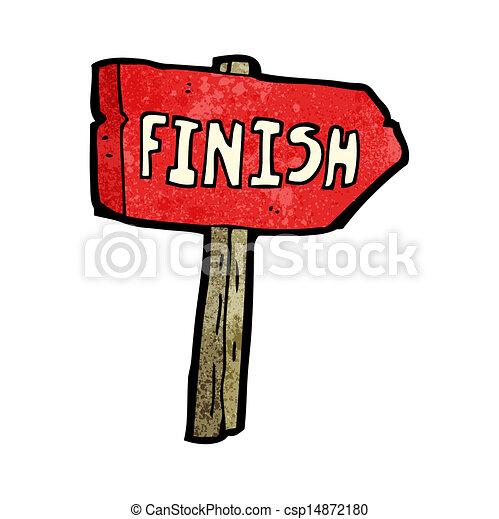 cartoon finish sign - csp14872180