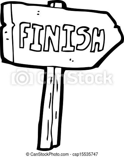 cartoon finish sign - csp15535747