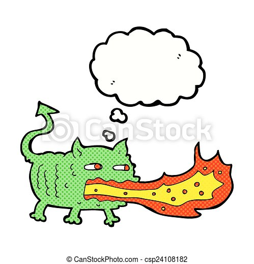 cartoon fire breathing imp with thought bubble vector search clip rh canstockphoto ca person breathing clipart breathing clipart