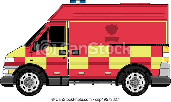 Cartoon Fire Truck - csp49573827