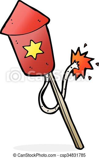 cartoon firework with burning fuse rh canstockphoto com cartoon firework rocket cartoon firework rocket