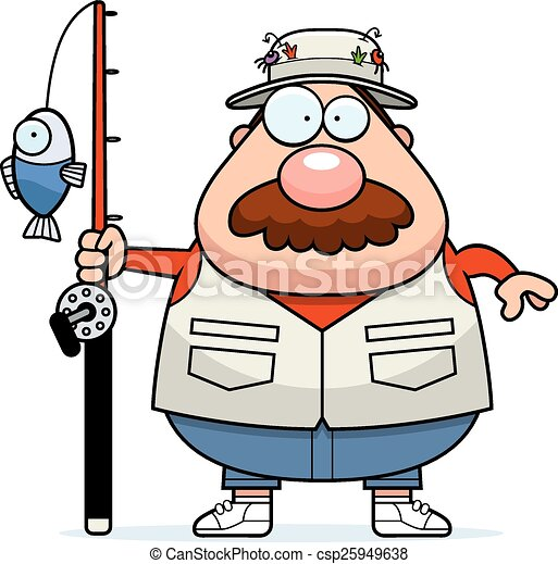 cartoon fisherman mustache a cartoon illustration of a vectors rh canstockphoto com fisherman clipart free fisherman clipart black and white