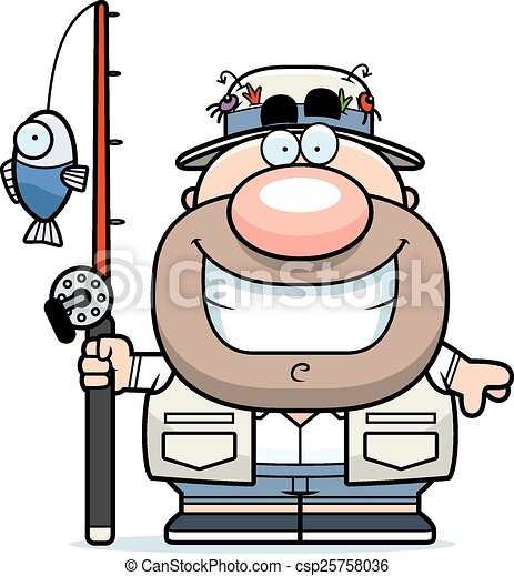 cartoon fisherman smiling a cartoon illustration of a vectors rh canstockphoto com fisherman clipart png fisherman clipart for headstone