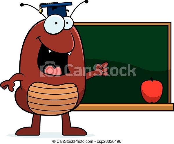 Cartoon Flea Teaching - csp28026496