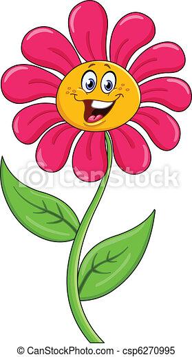 Cartoon flower - csp6270995