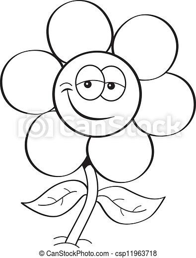 Cartoon flower black and white illustration of a flower cartoon flower csp11963718 mightylinksfo