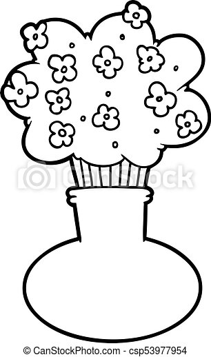 Cartoon Flowers In Vase Clipart Vector Search Illustration