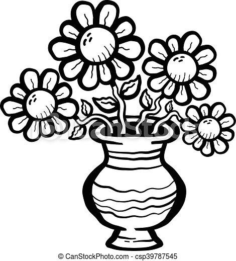 cartoon flowers in vase eps vector search clip art illustration rh canstockphoto com