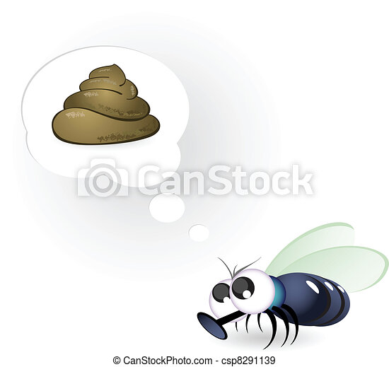 Cartoon fly - csp8291139