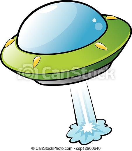 Cartoon Flying Saucer - csp12960640