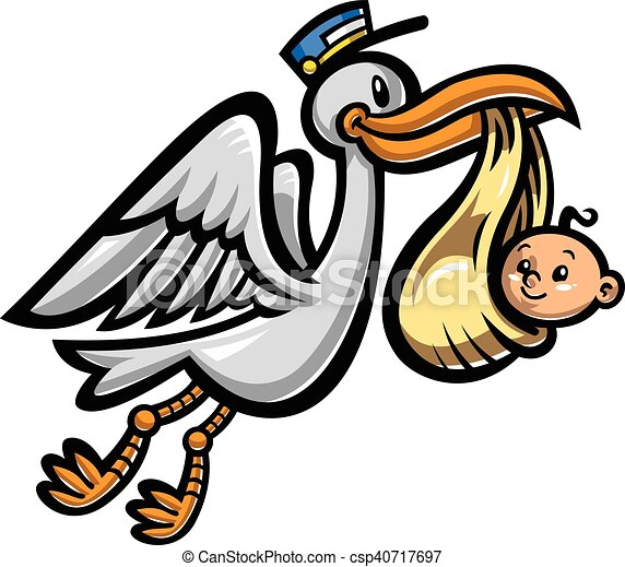 cartoon flying stork bird delivering a baby eps vectors search rh canstockphoto com stork clipart images stork clip art free downloads