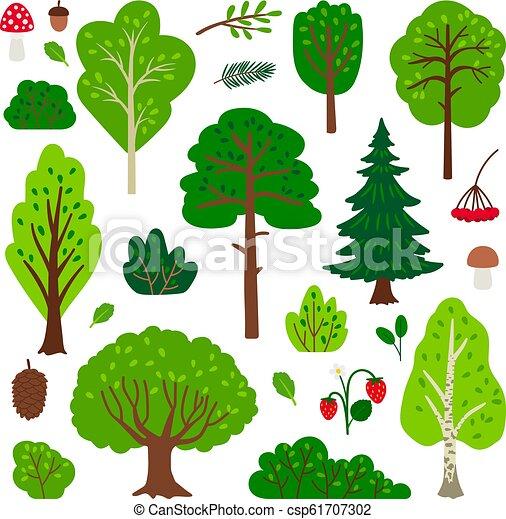 Cartoon forest tree set - csp61707302