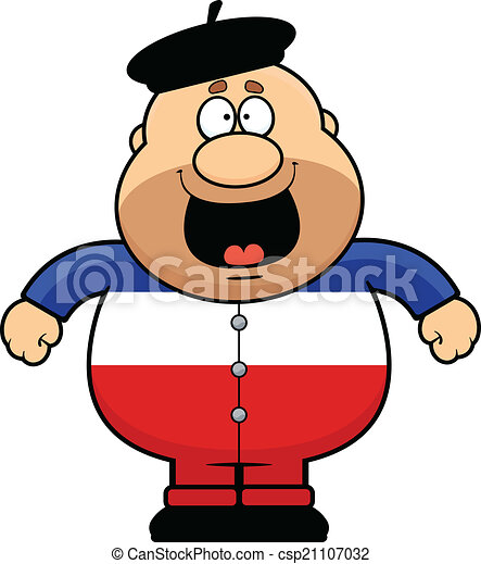cartoon frenchman happy cartoon illustration of a happy frenchman rh canstockphoto com French Country Clip Art french map clipart