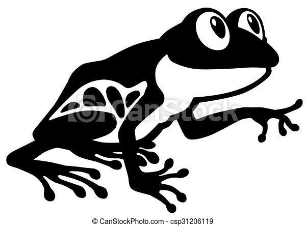 Cartoon Frog Black And White Cartoon Red Eye Tree Frog Black And
