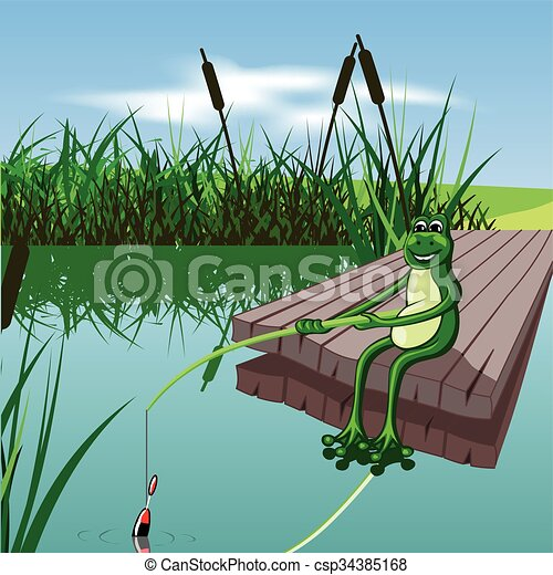 cartoon frog - csp34385168