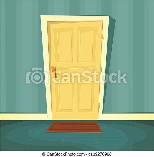 Cartoon Front Door - csp9276968 & Cartoon front door. Illustration of a cartoon front door inside ...