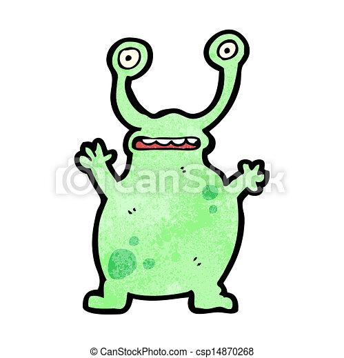cartoon funny alien - csp14870268