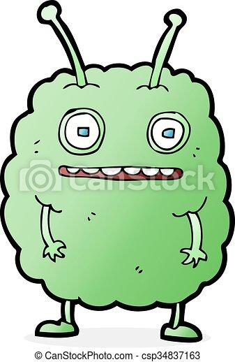Cartoon Funny Alien Monster