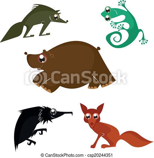 Cartoon funny animals design - csp20244351