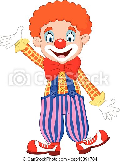 Cartoon funny clown - csp45391784