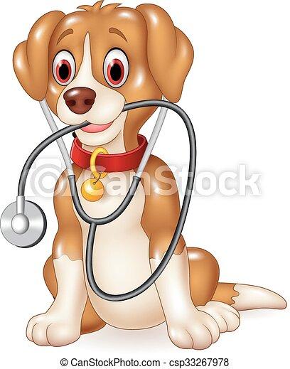 Cartoon funny dog sitting - csp33267978