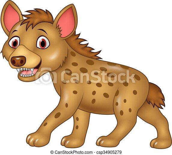 Cartoon funny hyena - csp34905279