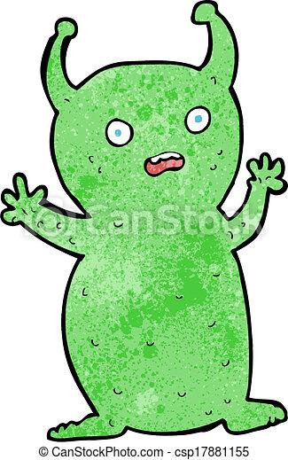 Cartoon Funny Little Alien