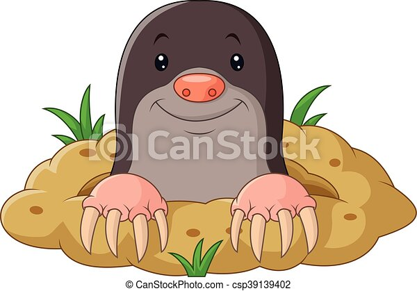 vector illustration of cartoon funny mole rh canstockphoto com Chemistry Mole Cartoon Famous Cartoon Moles
